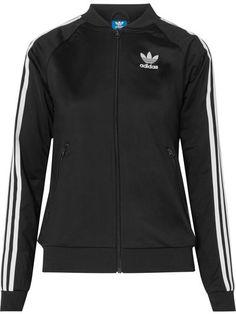 adidas Superstar Satin-jersey Jacket - Black