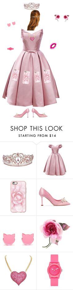"""Perfect pretty pink princess"" by unicorn106 ❤ liked on Polyvore featuring beauty, Casetify, Miu Miu, Gucci, Skechers and Betsey Johnson"