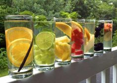natural flavored water recipes