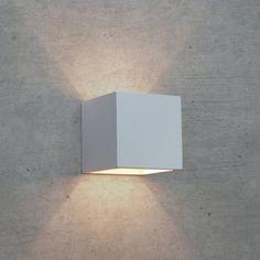 APPLIQUE IN GESSO LAMPADA A PARETE MODERNO ATTACCO G9 CUBO UP DOWN WALL LIGHT Art.110L – Luceled