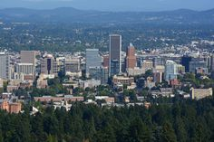 Portland Oregon. Taken from the grounds at the Pittock Mansion, Portland Oregon