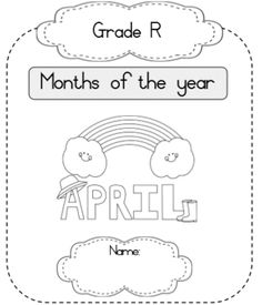 Months of the Year Workbook - Juffrou 911 Dotted Line, Afrikaans, Months In A Year, Writing, Education, Words, Onderwijs, Being A Writer, Learning