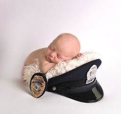 Newborn Photography -Police Baby Pictures