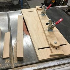 Getting ready for the next project with a project. Made a tapering sled for the table saw.. #woodworking #jig #custom #uplate #diy #handmade