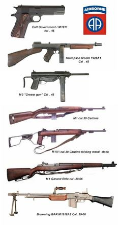 These are common weapons used during the war.