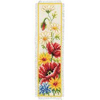 Vervaco Counted Cross Stitch Bookmark Kit. Summer Flower.