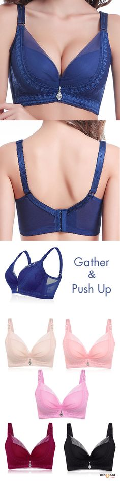 US$11.59 + Free shipping. Women Bra, Ultra-thin Bra. Lace Embroidery. Sexy/Push up/Deep V. Three Quarters(3/4 Cup). 4×4 Hook-and-eye. Adjustable Straps. Colors: Black, Blue, Pink, Deep Pink, Nude, Burgundy. Size: B-D Cup,38-46 Underbust. Buy now!