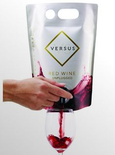 Those who look down their noses at pouch wine should take a note of caution– this design is looking down its nose at you. The Versus Wine Pouch takes advantage of the new form of packaging by making a clean, clear impression with notes of both purity and royalty. The waves of wine are endearing to the product, while the golden diamond logo represent a product of rich quality. While the jury is still out until we taste it, the packaging makes a strong statement on its own