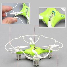 ToyJoy F8 SPACE TREK RC Nano Drone Children's Gift 2.4GHz & 6 Axis Gyro & 360 Flip Mini Quadcopter with Blade Guard Cover & Controller & USB Charging Cable (Green) * Click image to review more details.
