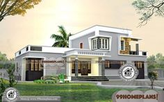 ideas house plans indian style for 2019 Front Elevation Designs, House Elevation, House Front Design, Small House Design, Ranch House Plans, Bedroom House Plans, Facade Design, Architecture Design, Indian House Plans