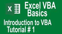 Excel VBA Basics ! Introduction to VBA ( Tutorial # 1   Visua basic for ...