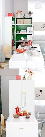 Inklapbaar werkmeubel - Foldable workspace Kijk op www.101woonideeen.nl #tutorial #howto #workspace #werkmeubel #foldable #inklapbaar #101woonideeën