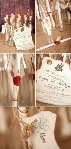 message in a bottle invitation #weddinginvitation