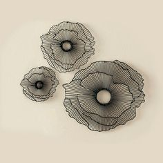 Wall Of Floating Flowers - Set Of 3 Smaller Flowers $49.98
