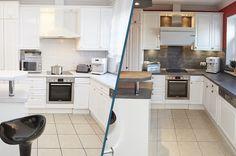 Küchenrenovierung Led Spots, Kitchen Cabinets, Home Decor, Old Kitchen, Set Of Drawers, Simple, Decoration Home, Room Decor, Cabinets