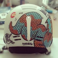 // Helmet by Borneo Modofoker, via Behance