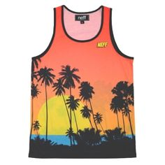 Sunset Orange Tank Top for men