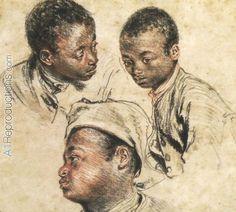 Jean Antoine Watteau, head of a negro