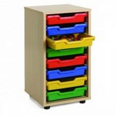 Mueble escolar cubetero 1 columna