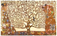 An elegant poster featuring Gustav Klimt's Tree of Life - a masterpiece of Fine Art! Ships fast. 11x17 inches. We have a fabulous selection of Gustav Klimt posters! Need Poster Mounts..?