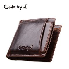 Cobbler Legend Famous Brand Vintage Genuine Leather Men Wallet Coin Pocket Purse Card Holder For Men Carteira Man Zipper Wallets ** Click the VISIT button for detailed description