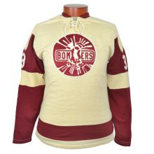 Ebbets sells an authentic reproduction of the original 1957 Flin Flon Bombers Hockey Sweater. This jersey is as authentic as they come! Hockey Gear, Hockey Shirts, Ice Hockey, Sports Uniforms, Sports Jerseys, Hockey Sweater, Sports Team Logos, The Championship, Graphic Sweatshirt