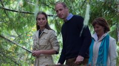 Prince William and Kate's tour of British Columbia was knocked off course on Monday as the royal couple braved bad weather to add a unique area of rainforest coastline to a conservation effort started by the Queen.