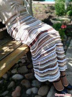 Пост хвастательно - знакомственый... или жить не могу без вязания Crochet Skirts, Knit Skirt, Crochet Clothes, Vanessa Montoro, Hippie Crochet, Knit Crochet, Crochet For Kids, Leg Warmers, Retro