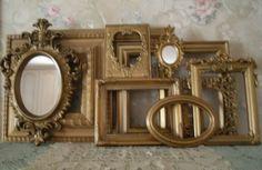 Gold Ornate Open Picture Frames  Vintage Style~Wedding~ Romantic  Lot 10 #Cottage