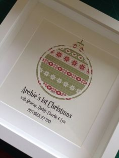 Baby's First Christmas Papercut Print by BabyCakesTreas on Etsy