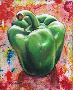 Green Pepper Painting