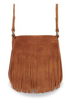 """Minnetonka Brown Suede Fashion Fringe Bag    Product # 5302    Mini on-the-go, soft, supple suede leather purse with layer of fringe on one side. Adjustable strap makes this a great shoulder or cross-body handbag. Inside snap keeps items safely enclosed.    Color: Brown Suede    Size: 6"""" high (plus strap), 5.5"""" wide, 1.5"""" deep"""