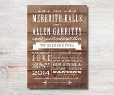 Vintage Western Rustic Wedding Invitation by SimplyFetchingPaper, $15.00