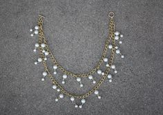 HelloGiggles - Two Broke Girls Remake - Pearl Necklace DIY
