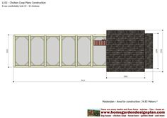 home garden plans: L102 - Chicken Coop Plans Construction - Chicken Coop Design - How To Build A Chicken Coop Chicken Coop Designs, Chicken Coop Plans, Building A Chicken Run, Chicken Runs, Coops, Garden Planning, Home And Garden, Construction, How To Plan