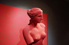 #EB2F2F, statue, Roman, Modern art, Bust