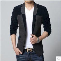 New Slim Fit Casual jacket Cotton Men Blazer Jacket Single Button Mens Suit  Jacket 2016 Autumn