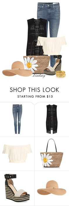 """Aquatalia 'Kady' Wedge Espadrille Sandal"" by lindsayd78 ❤ liked on Polyvore featuring rag & bone, Dorothy Perkins, Kate Spade, Aquatalia by Marvin K. and Eugenia Kim"