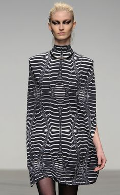 Optical illusions in the AW13 @AMINAKA_WILMONT show at #lfw
