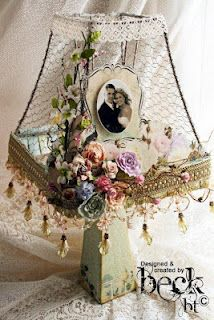Shabby Chic Furniture: How to Paint and Distress – Shabby Chic Talk Shabby Chic Lamps, Shabby Chic Style, Shabby Chic Furniture, Lamp Shades, Light Shades, Cracked Paint, Wood Ornaments, Fairy Lights, Altered Art