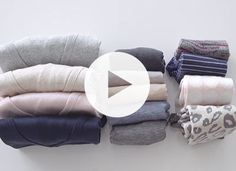 How to Fold Clothes the KonMari Way // This is the one trick you need to maximize your closet space!