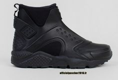 sports shoes e9945 2c7cc Officiel Nike Air Huarache Run Mid Chaussures Nike 2016 Pas Cher Pour Femme  Noir