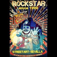 Streetart Sevilla Rockstar SINCE 1999