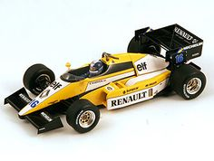 Renault RE50 (Derek Warwick - British GP 1984) Diecast Model Car by Spark S3850 This Renault RE50 (Derek Warwick - British GP 1984) Diecast Model Car is Yellow. It is made by Spark and is 1:43 scale (approx. 9cm / 3.5in long).
