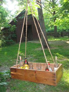 Hanging outdoor bar