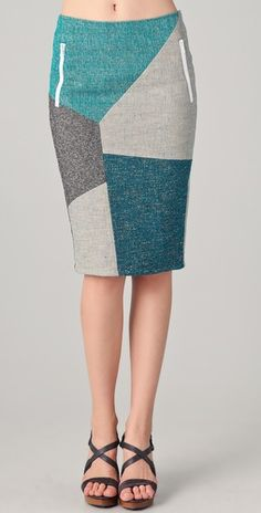 rag & bone - slash patchwork skirt. I love this. Probably because it's teal, and everything I own is teal...