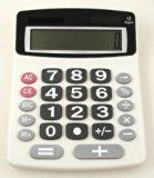 A large number calculator is a small investment (under $15) to help keep your checkbook in order.