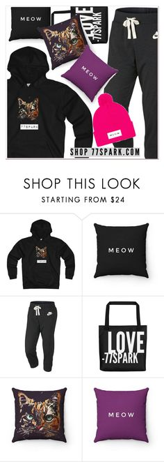 """""""Cute and Cozy by 77spark"""" by mycherryblossom ❤ liked on Polyvore featuring Kitty Kat and NIKE"""