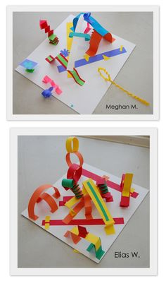 Alexander Calder inspired paper circus The New Hope Art Gallery: Inspired by the Masters - Abstract Paper Sculptures Fun Crafts, Crafts For Kids, Arts And Crafts, Paper Crafts, Alexander Calder, Projects For Kids, Art Projects, Abstract Paper, Ecole Art