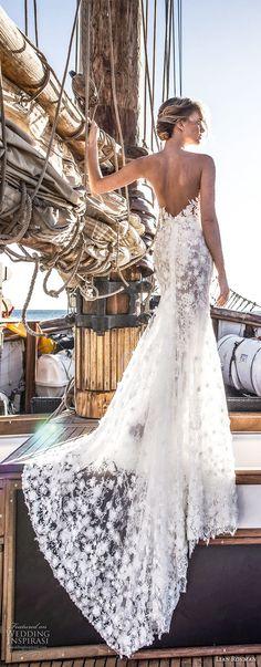 lian rokman 2017 bridal sleeveless deep v neck full embellishment elegant romantic trumpet mermaid wedding dress open back sweep train (jade) bv -- Lian Rokman 2017 Wedding Dresses